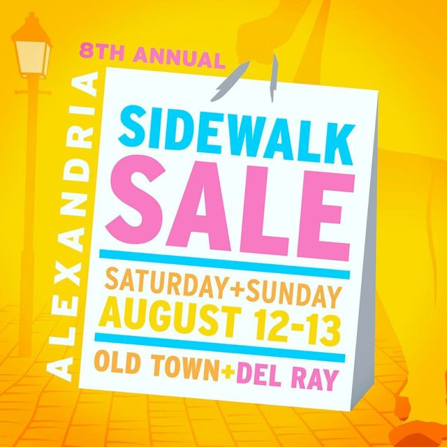 Join us this weekend for Alexandrias 8th annual sidewalk sale!hellip