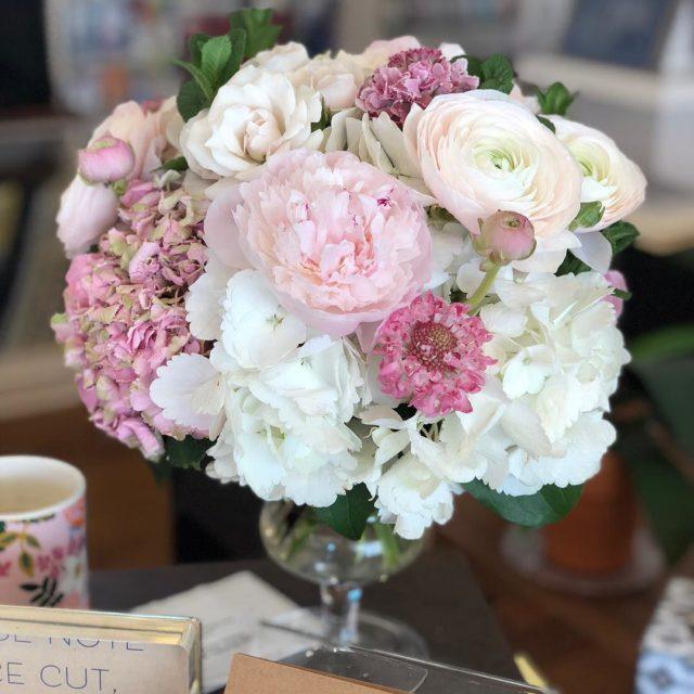 enchantedfloristva always gets it right! Beautiful birthday flowers for ourhellip